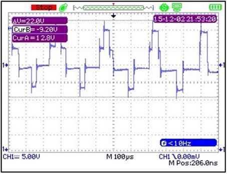 medição de tensão em veios - Tensão de modo comum alta, pico a pico