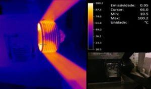 Medição de vibrações e termografia em correias